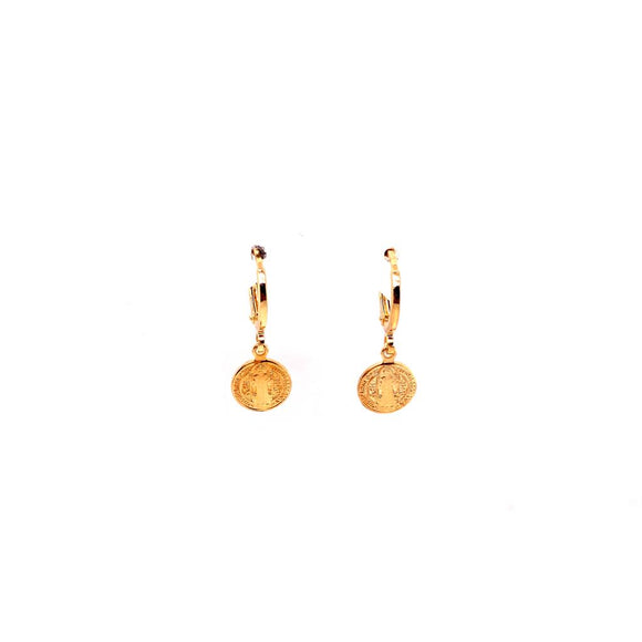 Saint Bento Mini Hoop Sleepers - 18k Gold Plated