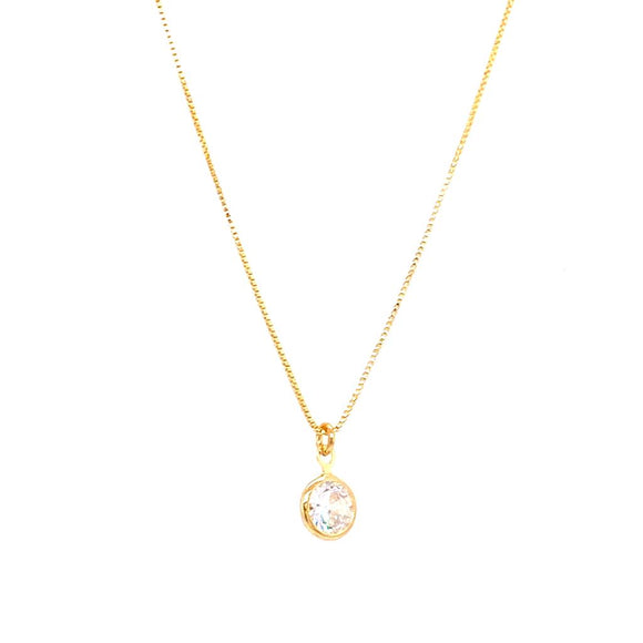 Light Point 45cm Necklace - 18k Gold Plated