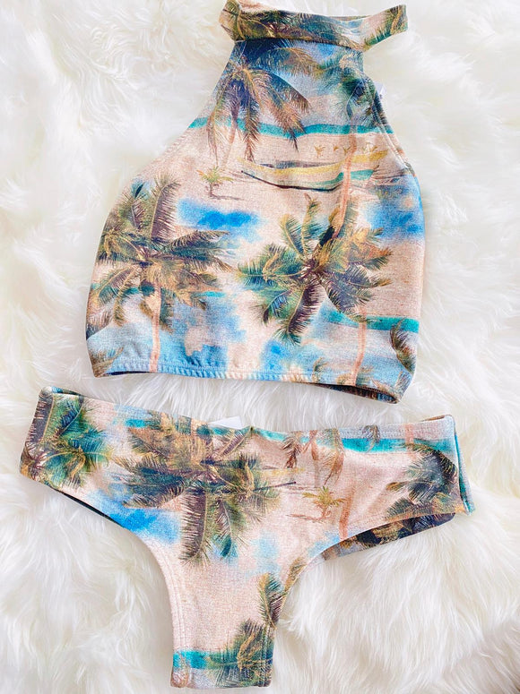 Tropical Bikini  SET - Bottom and TOP