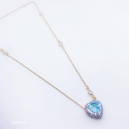 Tiffany Heart Necklace - Sky Fusion - 18k Gold Plated