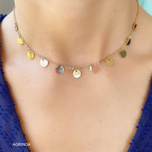 Load image into Gallery viewer, Medallions Tassy Choker - 18k Gold Plated