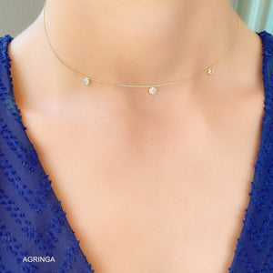 3 Light Points Choker - 18k Gold Plated