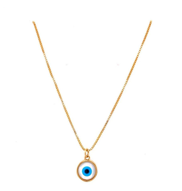 Luck Evil Eye Round Necklace
