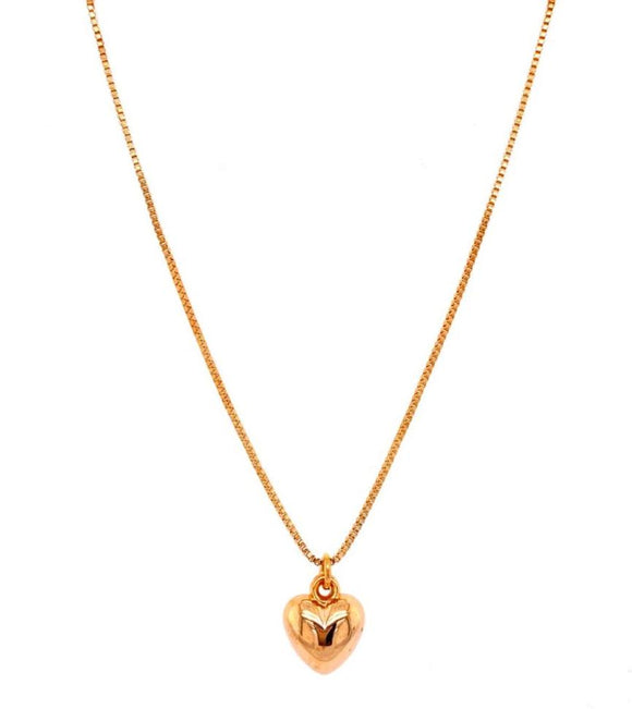 Heart Necklace - 18k Gold Plated