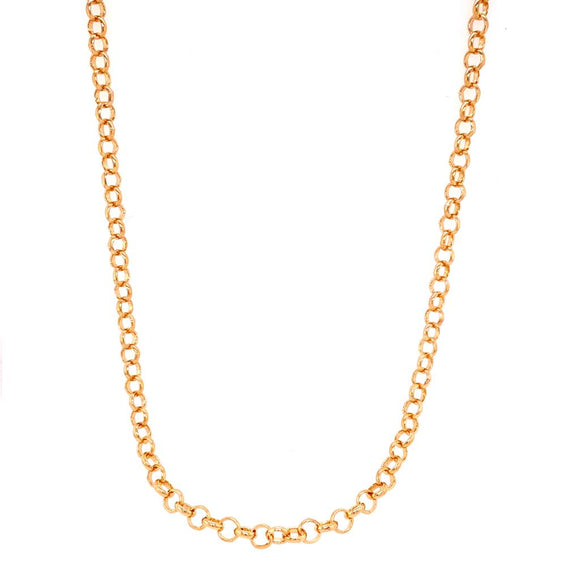 Long Links Necklace - 18k Gold Plated