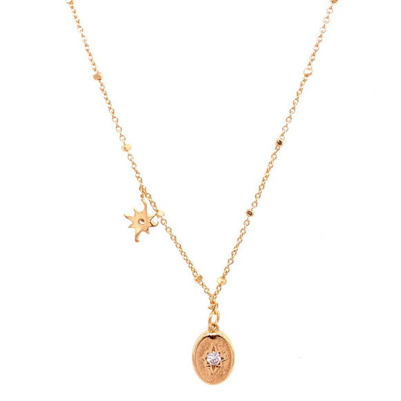 Bright Stars Necklace - 18k Gold Plated