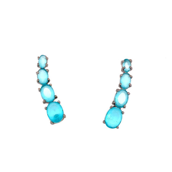 The Unique Cuff Earrings Milky Aquamarine