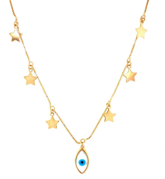 Luck Evil Eye & Stars Necklace