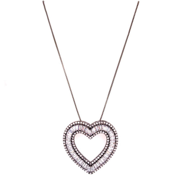 Crystal-led Heart Necklace