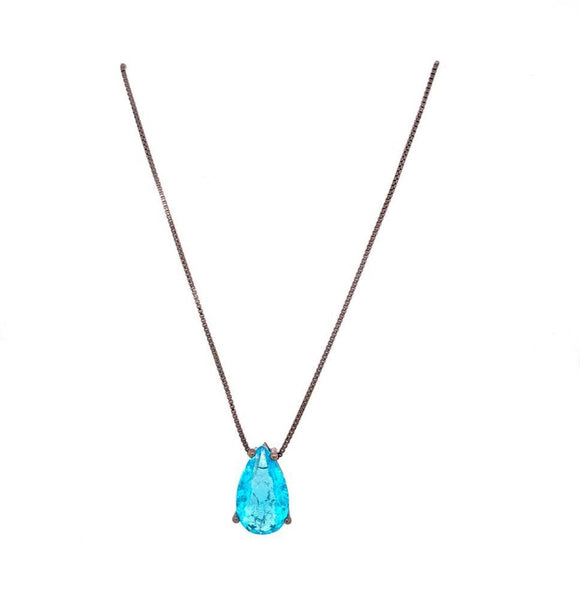 Aquamarine Medium Drop Necklace