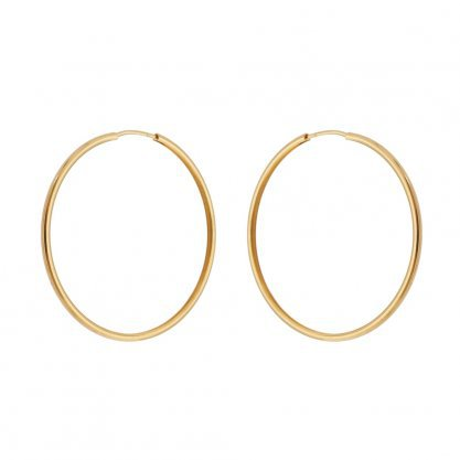 Smooth Small Hoops - 18k Gold Plated