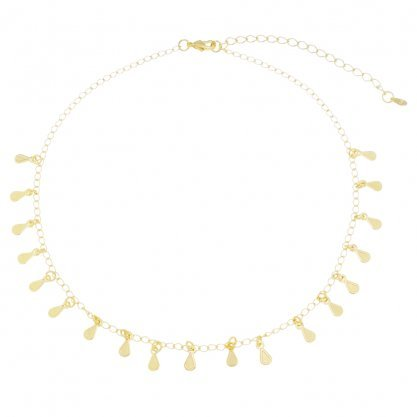 Droplet Choker - 18k Gold Plated