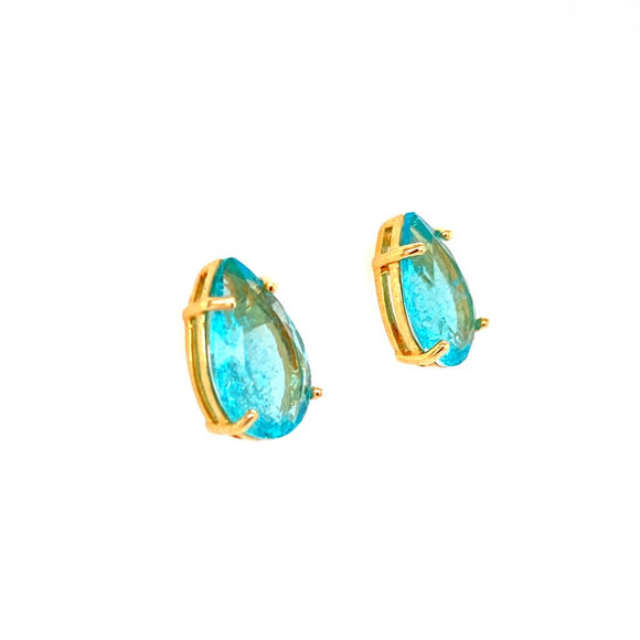 Aquamarine Medium Drop Earrings