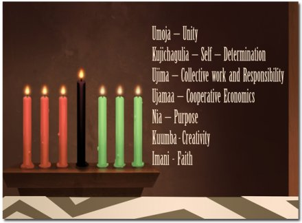 KWANZAA: Seven Principles = Seven Days of the Week
