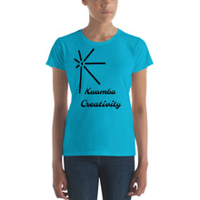 Load image into Gallery viewer, Kuumba Creativity BLK SYM Women's short sleeve t-shirt
