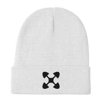 Ujima SYM BLK Embroidered Beanie