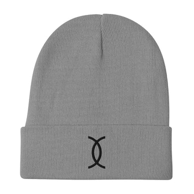 Ujamaa SYM BLK Embroidered Beanie