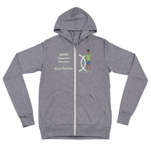 Load image into Gallery viewer, Ujamaa Cooperative Economics Unisex zip hoodie