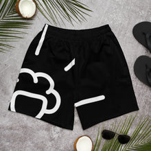 Load image into Gallery viewer, Shine Black Athletic Shorts
