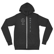 Load image into Gallery viewer, Kwanzaa Symbols GRY Unisex zip hoodie