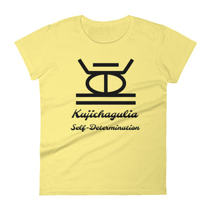 Kujichagulia Self-Determination BLK SYM Women's short sleeve t-shirt