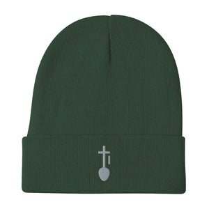 Nia SYM GRY Embroidered Beanie