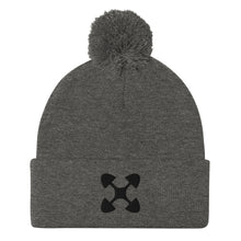 Load image into Gallery viewer, Ujima SYM BLK Pom-Pom Beanie