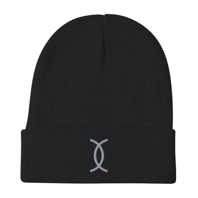 Ujamaa SYM GRY Embroidered Beanie