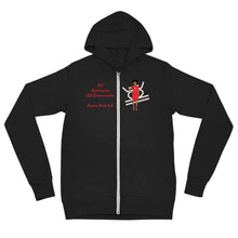 Load image into Gallery viewer, Kujichagulia Self-Determination Unisex zip hoodie