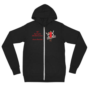 Kujichagulia Self-Determination Unisex zip hoodie
