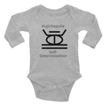 Load image into Gallery viewer, Kujichagulia Self-Determination Infant Long Sleeve Bodysuit