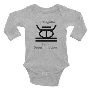 Kujichagulia Self-Determination Infant Long Sleeve Bodysuit