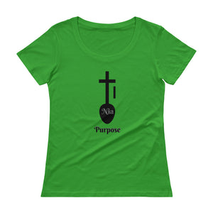 Nia Purpose Symbol Ladies' Scoopneck T-Shirt