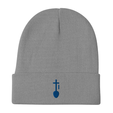 Nia SYM BLU Embroidered Beanie