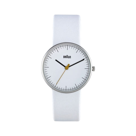 Braun BN-21 Ladies' Analog Wristwatch, White Face & White Band
