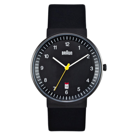 Braun BN-32 Analog Wristwatch, Black Face & Black Band