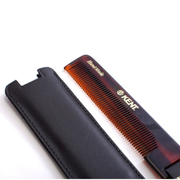 Kent Tab Pocket Comb with Leather Case