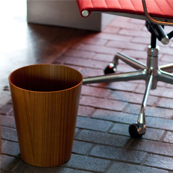 Molded Plywood Wastebasket, 12""