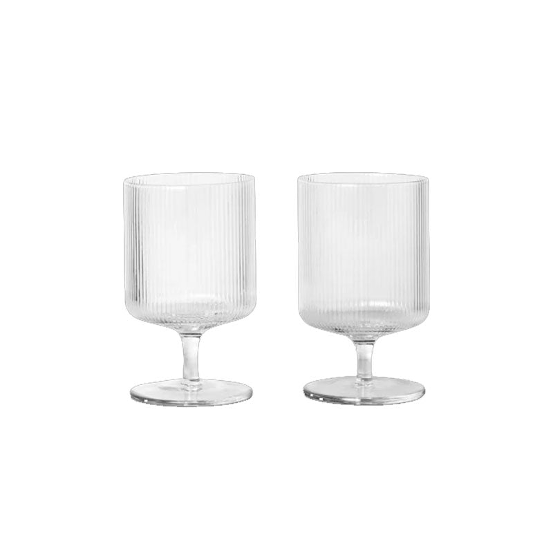 Ripple Wine Glasses, Clear (Set of 2)