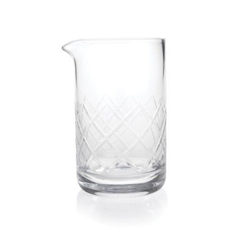 Diamond-Cut Mixing Glass