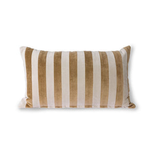 HK Living - Stribet Pude - Beige/Brun