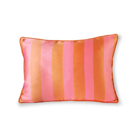 HK Living - Stribet Pude - Orange/Pink
