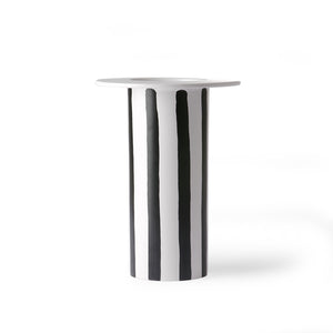 HK Living - Keramik Vase - stribet