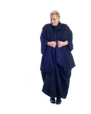 NEW! Black Cape Shaped Jacket