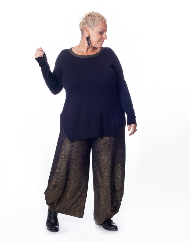 Black Long-Sleeve Tunic