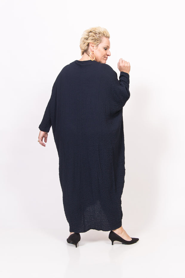 Dark Blue Cocoon Dress
