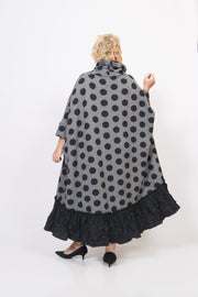Black Polka Dot Wide Dress
