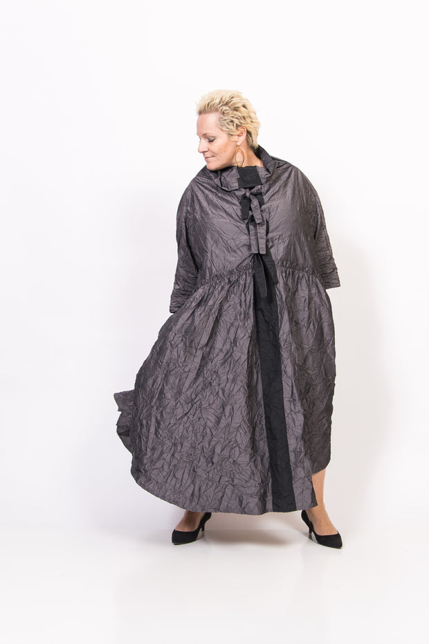 Taffeta Silver Wide Dress