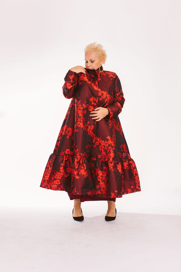Red Luxurious Long Coat