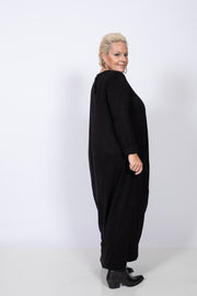 Black Jersey Long Dress